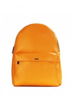 حقيبة ظهر نسائية بسحاب  - اصفر