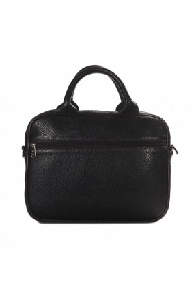 حقيبة يد رجالي جلد - بني داكن