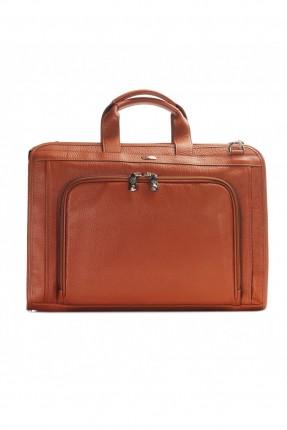حقيبة يد رجالي جلد رجل اعمال - بني