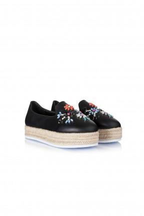 حذاء نسائي مجوهرات - اسود