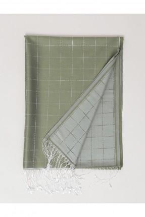 حجاب تركي مخطط - اخضر