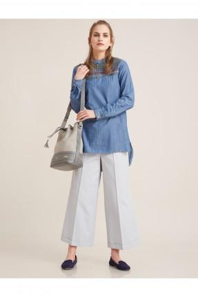 قميص نسائي محتشم سبور - ازرق