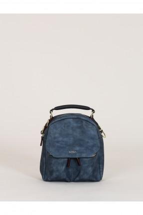 حقيبة ظهر نسائية مع سحابات - ازرق