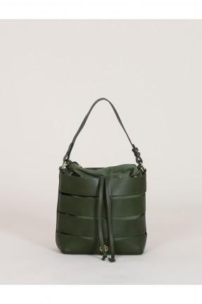 حقيبة يد نسائية جلد - اخضر