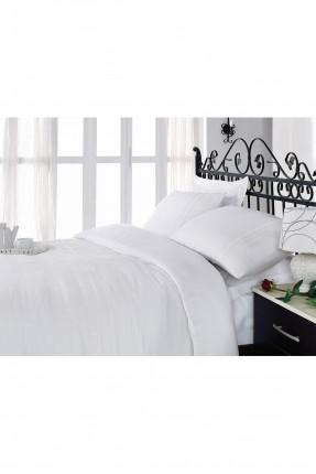 طقم غطاء سرير مزدوج كلاسيك / قطعتين / ابيض