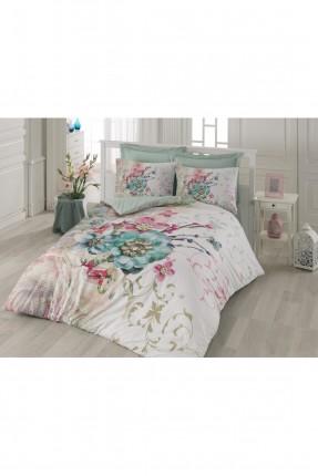 طقم غطاء سرير مزدوج / 3 قطع / تركواز