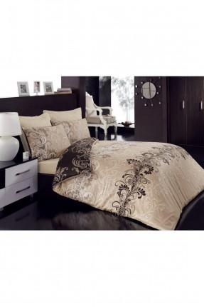 طقم غطاء سرير مزدوج ساتان / قطعتين / بيج