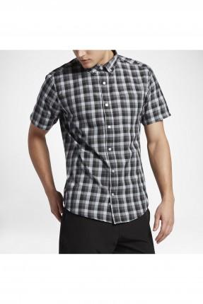 قميص رجالي نايكي مربعات - اسود
