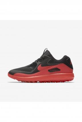بوط رجالي Nike غولف - اسود واحمر