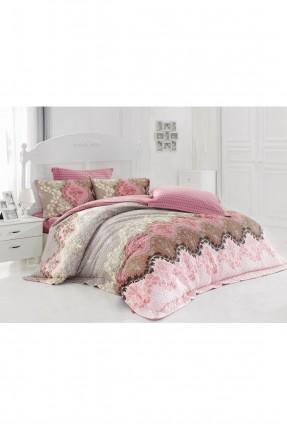 طقم غطاء سرير مفرد / 3 قطع / ملون