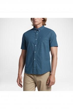 قميص رجالي نايكي مقشش - ازرق