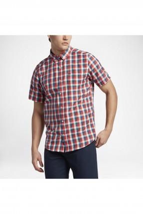 قميص رجالي نايكي مربعات - احمر