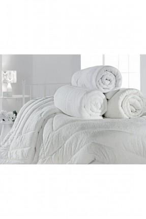 لحاف سرير مزدوج مزخرف - ابيض