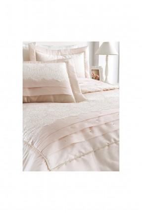 طقم غطاءسرير مزدوج دانتيل / قطعتين / وردي