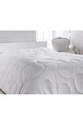 لحاف قطن سرير مزدوج - ابيض