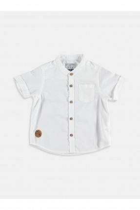 قميص بيبي ولادي مع جيب - ابيض