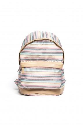 حقيبة ظهر نسائية مخططة بالالوان