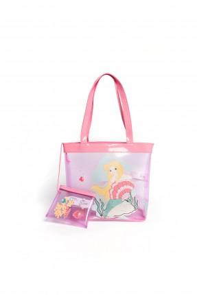 حقيبة يد اطفال بناتي - زهري