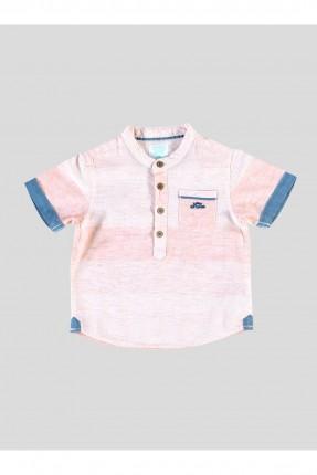 قميص بيبي ولادي نصف كم - وردي