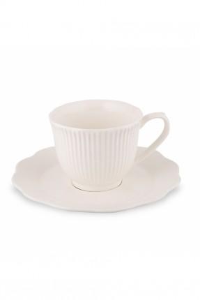 طقم قهوة ابيض لشخصين / 4 قطع /