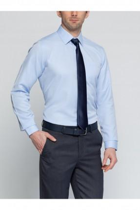قميص رجالي كم طويل - ازرق