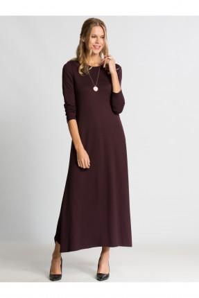 فستان نسائي كم طويل - خمري