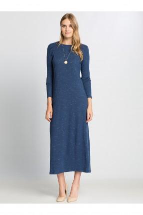 فستان نسائي كم طويل - نيلي
