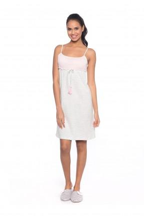 فستان بيجاما نسائية - رمادي