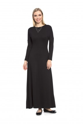 فستان نسائي كم طويل - اسود