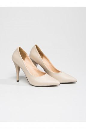 حذاء نسائي بكعب - بيج