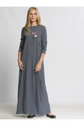 فستان نسائي كم طويل - كحلي