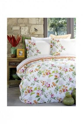 طقم غطاء لحاف رسومات ورد / 3 قطع / سرير مفرد