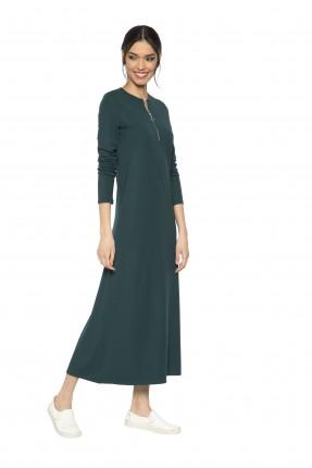 فستان نسائي طويل مع سحاب - اخضر