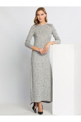 فستان نسائي كم طويل - رمادي