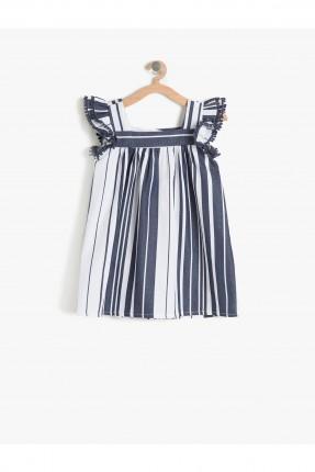 فستان بيبي بناتي مع كشكشة على الاكتاف