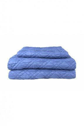طقم غطاء سرير مفرد / قطعتين / كحلي