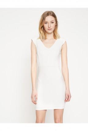 فستان نسائي بدون اكمام - ابيض