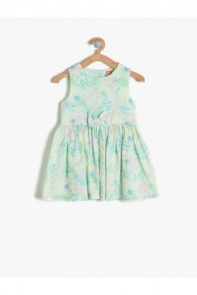 فستان بيبي بناتي مع ببيونة - اخضر