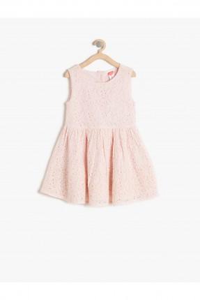 فستان اطفال بناتي دانتيل - وردي