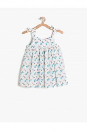 فستان اطفال بناتي شيال - ابيض