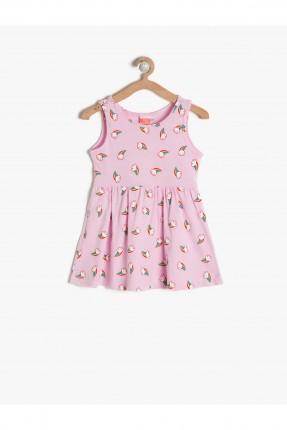 فستان اطفال بناتي مزخرف - وردي