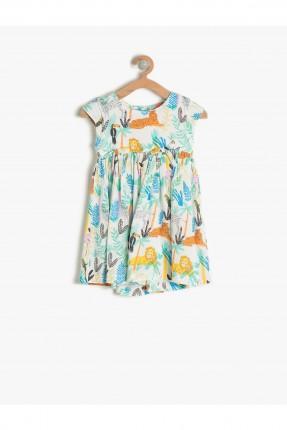 فستان اطفال بناتي مزخرف - ابيض