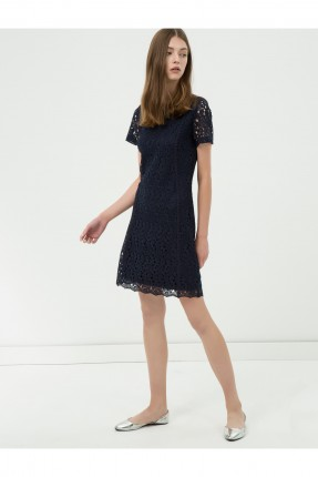 فستان نسائي دانتيل - نيلي