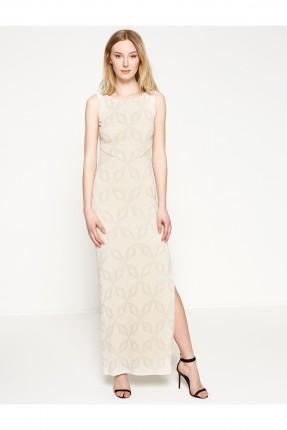 فستان نسائي حفر مع فتحة جانبية