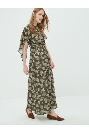 فستان نسائي بنقشات - زيتي