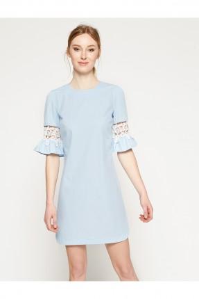 فستان نسائي دانتيل - ازرق