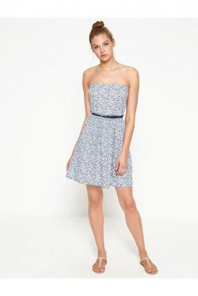 فستان نسائي كت - نيلي