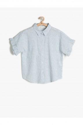 قميص اطفال بناتي مكشكش الاكمام