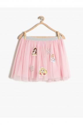 تنورة اطفال بناتي مع طبعة - وردي