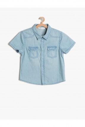 قميص اطفال ولادي جينز مع جيب